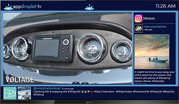 Marine Digital Signage Marketing Appdroplet TV