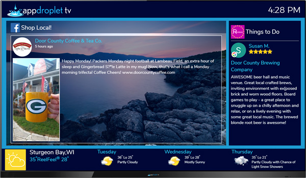 appdroplet TV for Hospitality