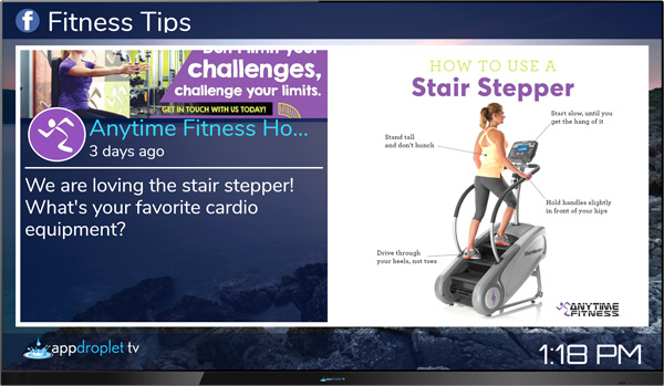 Appdroplet TV Fitness Tips