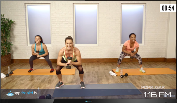Appdroplet TV Workout Video